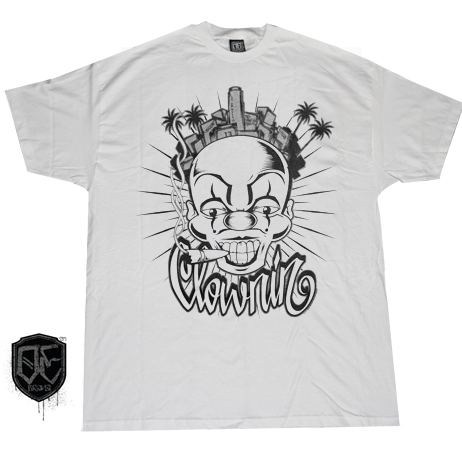 OLD ENGLISH BRAND CLOWNING T-SHIRT (WHT)