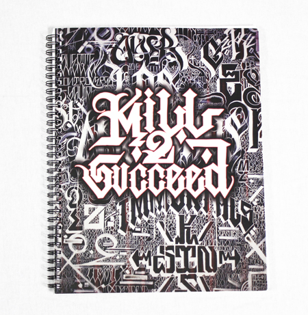 Kill 2 Succeed Lettering Book