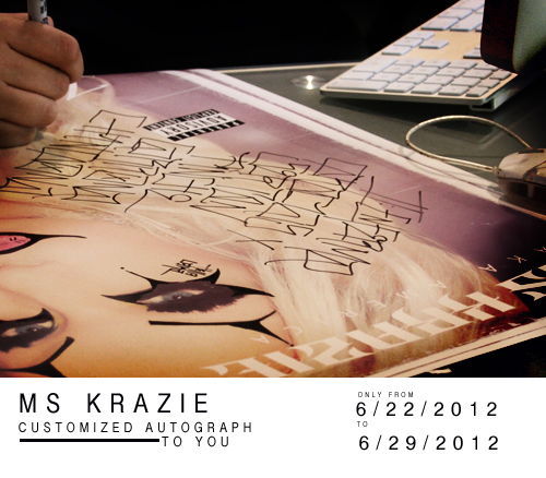 Limited Time Customized autograph poster sign by Ms krazie
