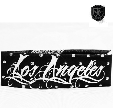 "Old English Brand ""Special Edition"" Los Angeles Black Bandana"