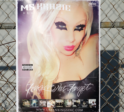 Ms Krazie - Forgive Not Forget - Pre Order 5 VIP Poster Autograph Package