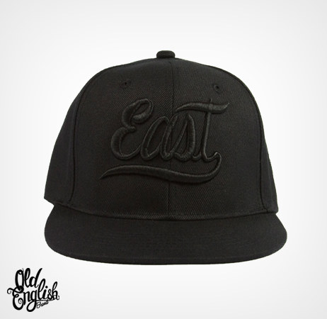 East OE Black Snapback
