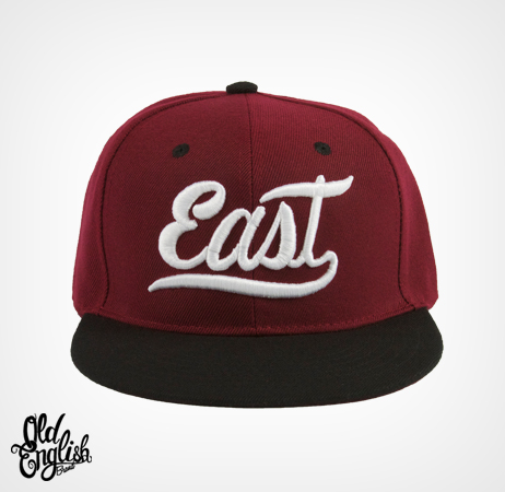 East OE Burgundy & White Snapback