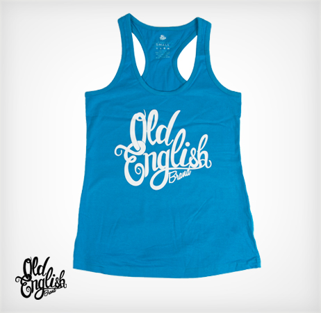 OE Racerback Tank in Blue
