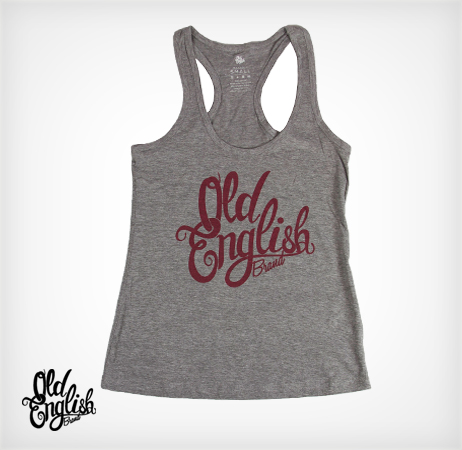 OE Racerback Tank in Heather Grey