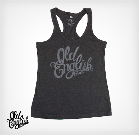 OE Racerback Tank in Charcoal Grey