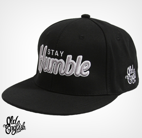 Stay Humble Black/Black/Grey Snapback Hat