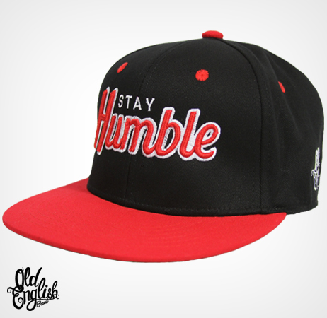 Stay Humble Black/Red/Red Snapback Hat