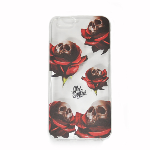 The OE Skull And Roses (Clear Flexable Case)