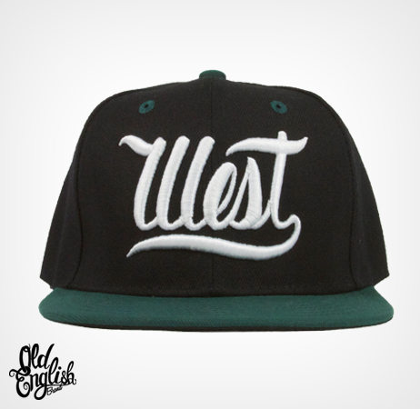 West OE Black & Green Snapback