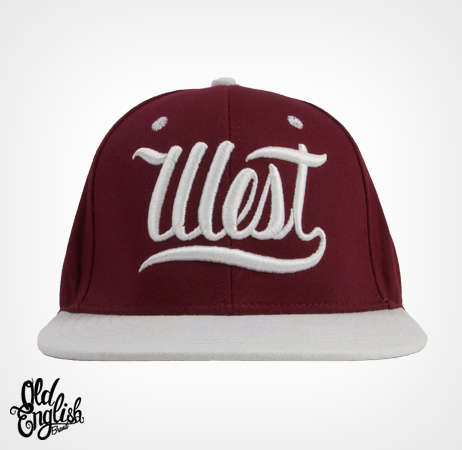 West OE Burgundy & White Snapback