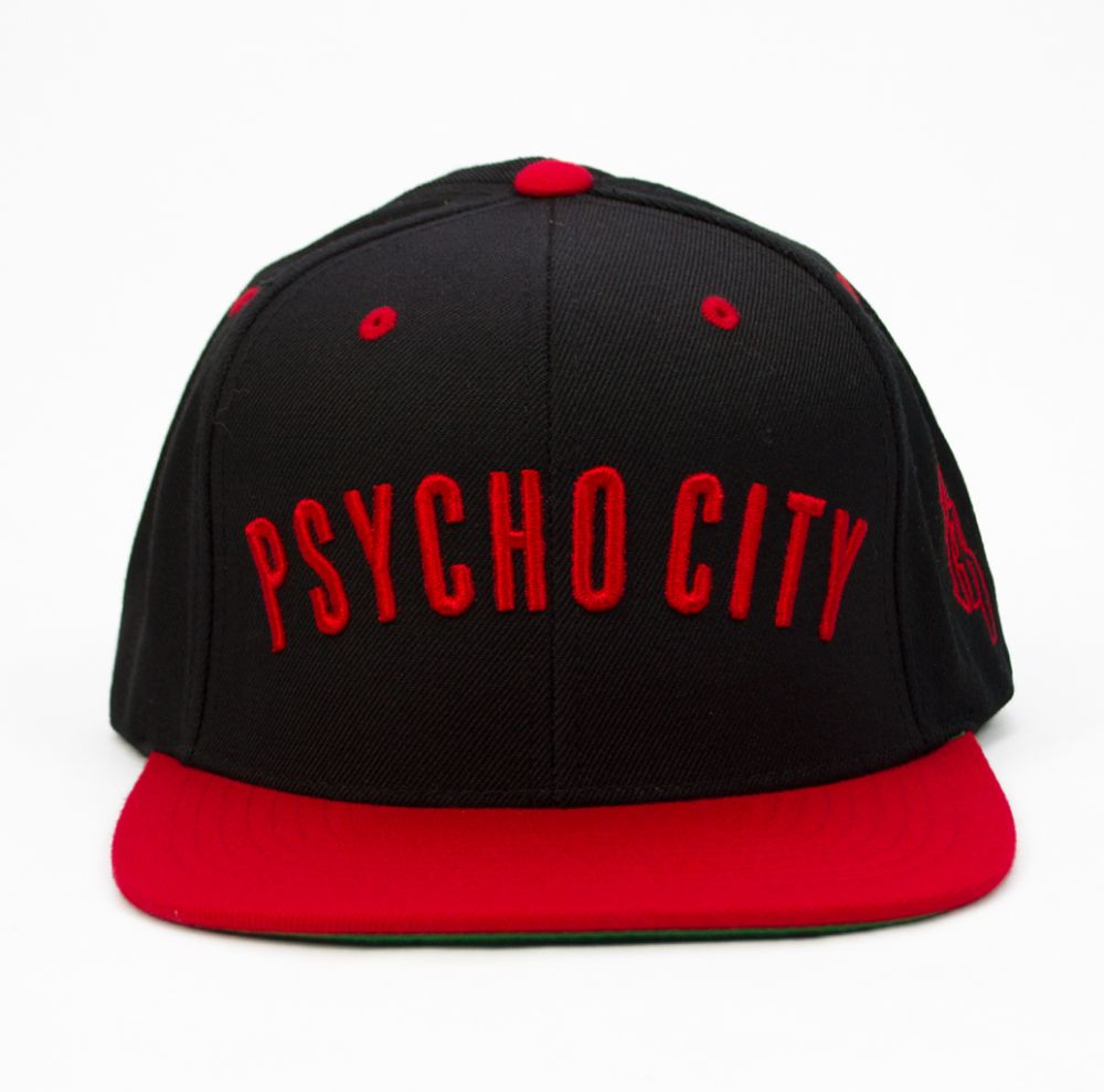Psycho City Snap Back - Black/Red