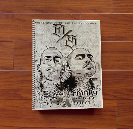 Grind Now Shine Now Sketchbook - Mr Flaks & Spanky Loco