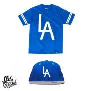Blue LA Tee & LA Snapback Combo Pack