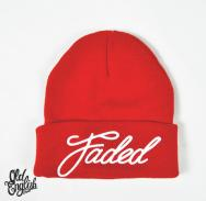 OE Faded Beanie in Red